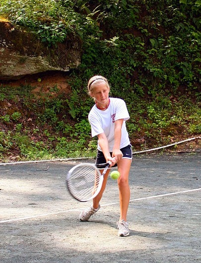 Tennis player at summer camp