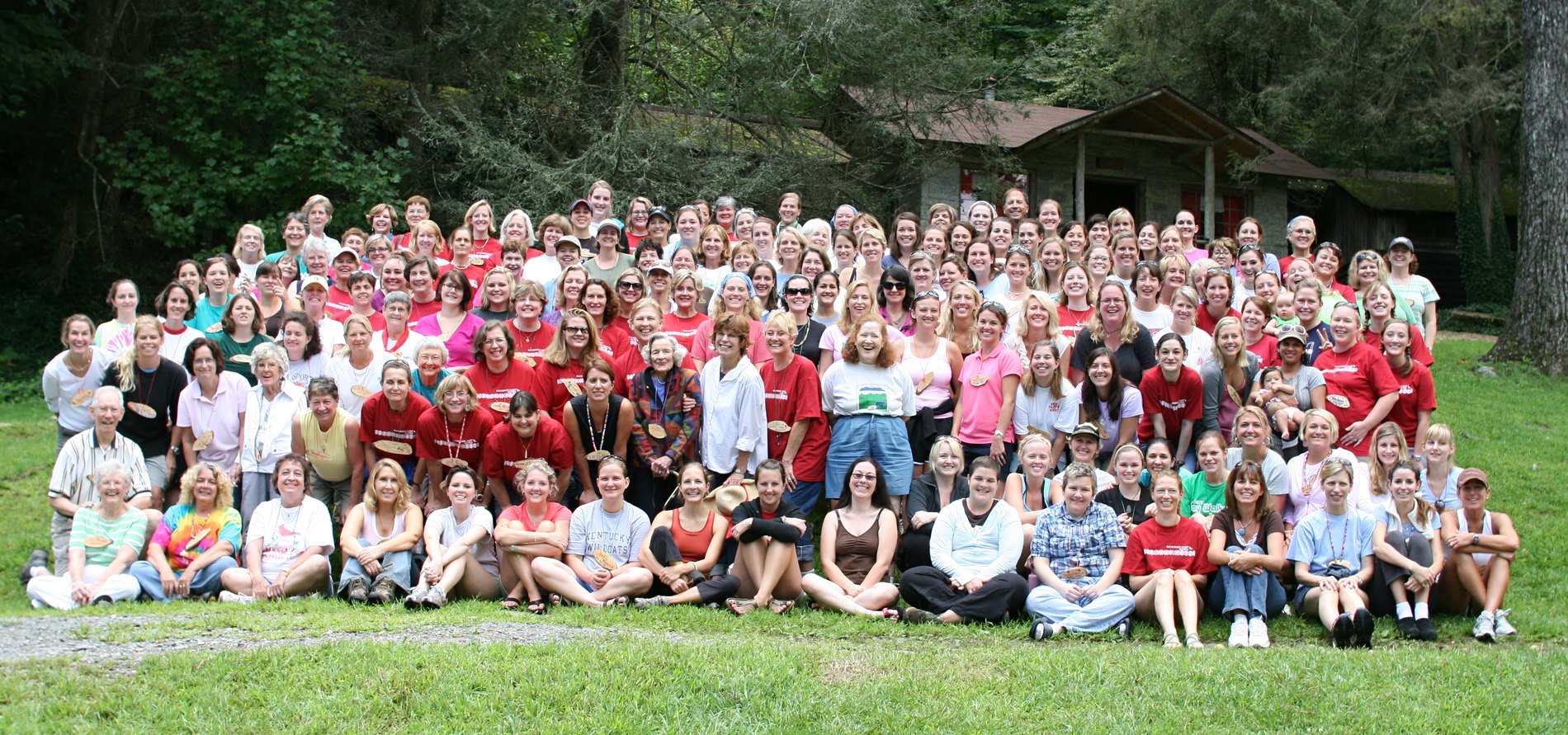 girls summer camp reunion group