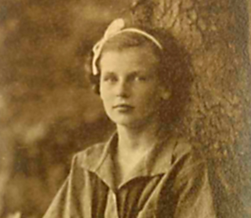 portrait of an early girl at summer camp