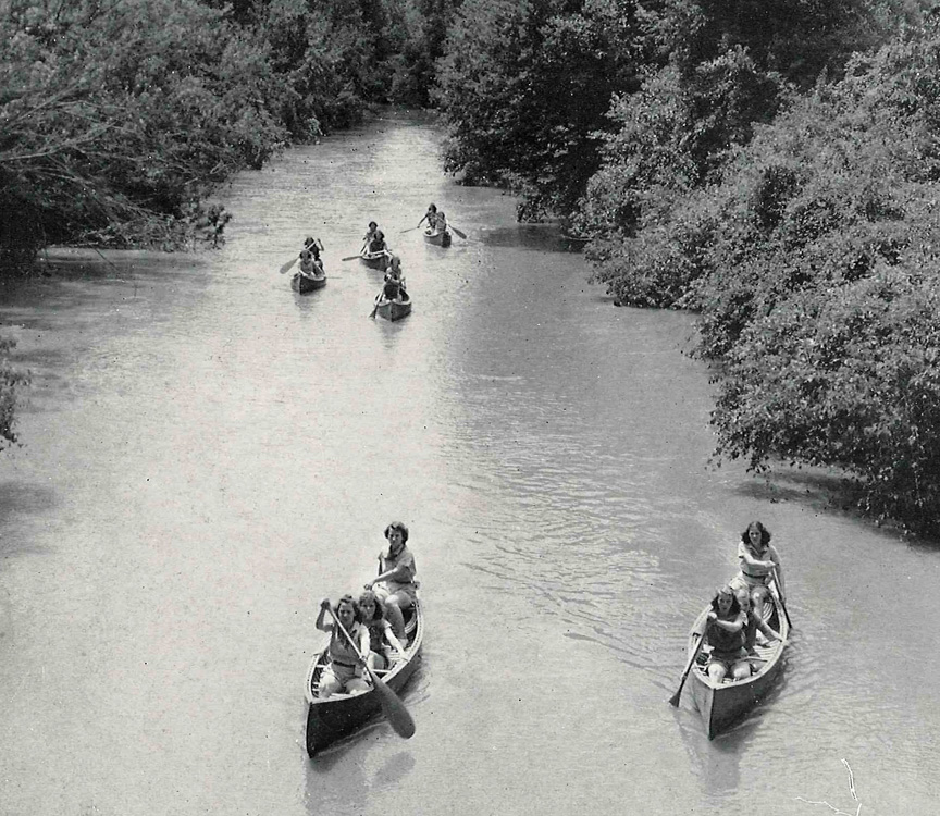 historic canoe trip on french broad river