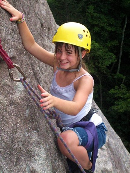 Girl Rock Camp Climbing