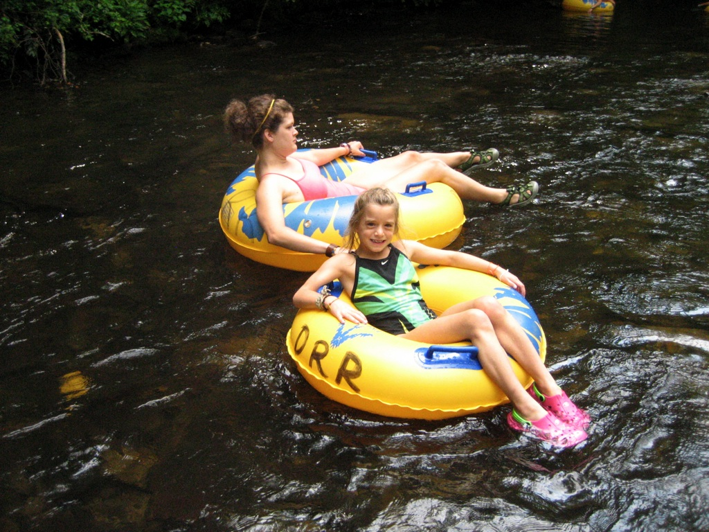 Tubing down the Davidson River