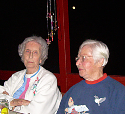 Shirley Lampton and Ellen Lensing