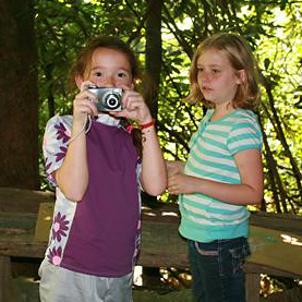 Kids learn photography tips at summer camp
