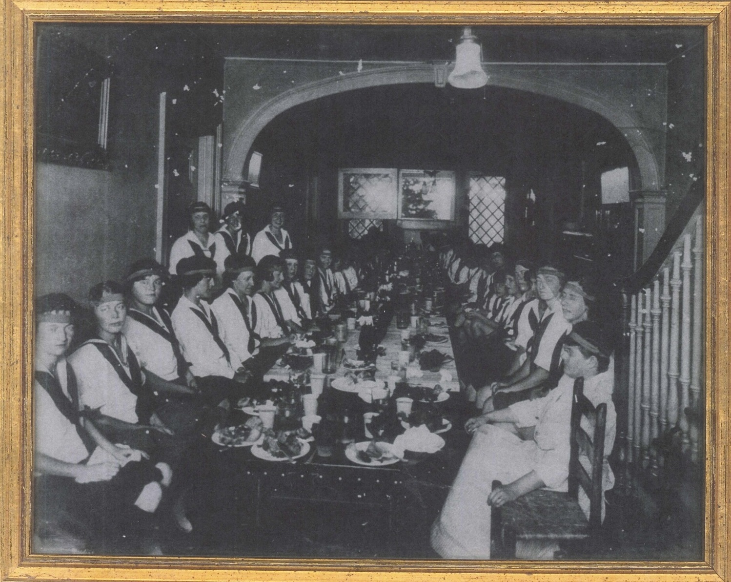 Old dinner inside clarke carrier rockbrook house