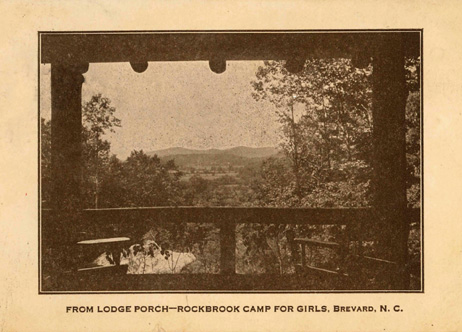 Mountain view from Rockbrook Camp on 1923 postcard