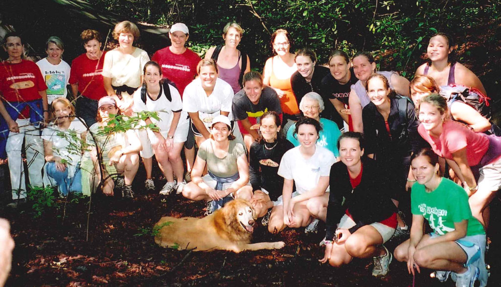 Rockbrook Camp Alumnae enjoyed a hike during our last summer camp reunion