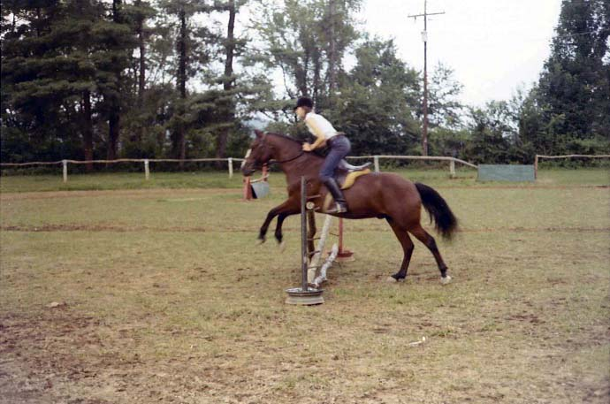 The horse show at Rockbrook occurs at the end of each session.