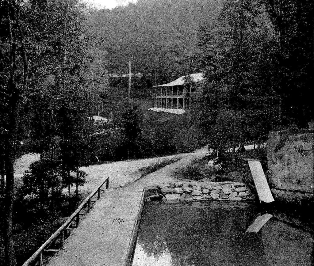 Rockbrook Camp, founded 1921, Lake and Lodge View