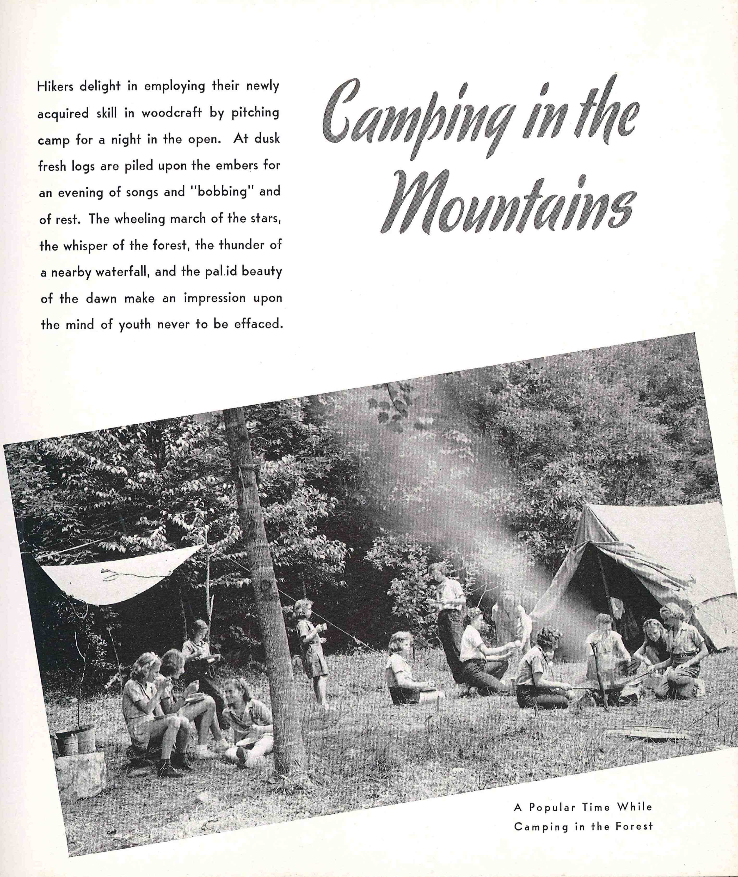 Campers at Rockbrook enjoy an overnight camp out