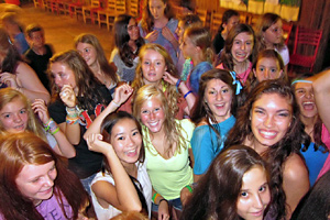 Senior campers enjoy camp dance