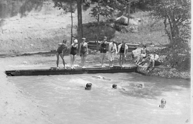 Swim Lessons at Rockbrook Camp, 1920's