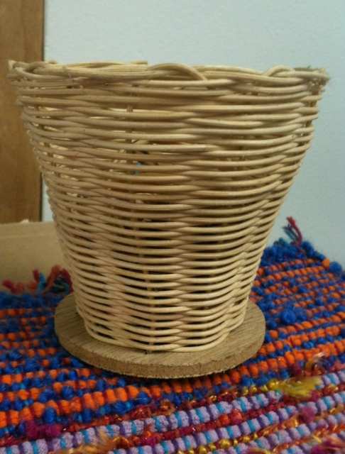 woven basket from summer camp