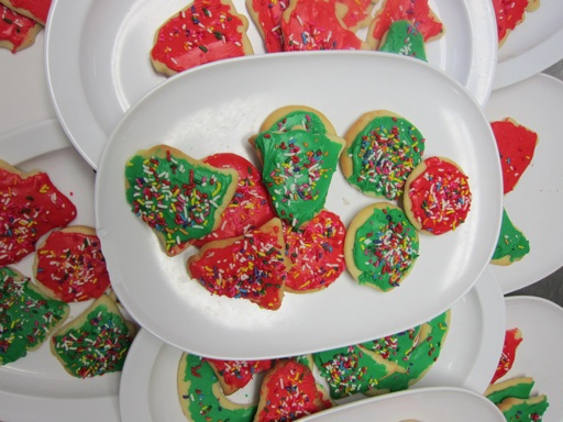 holiday red and green cookies