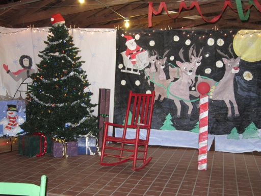 Camp holiday decorations