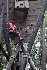 High Ropes Course Climbing child