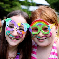 decorated silly girls at summer camp