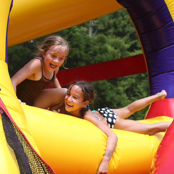 Camp obstacle course kids