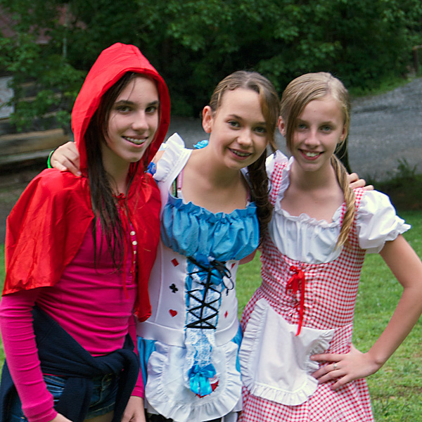 Black Forest Girls Costumed