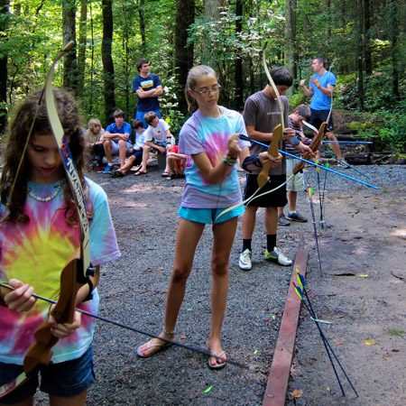 Camp Girls and Boys Archery Tournament