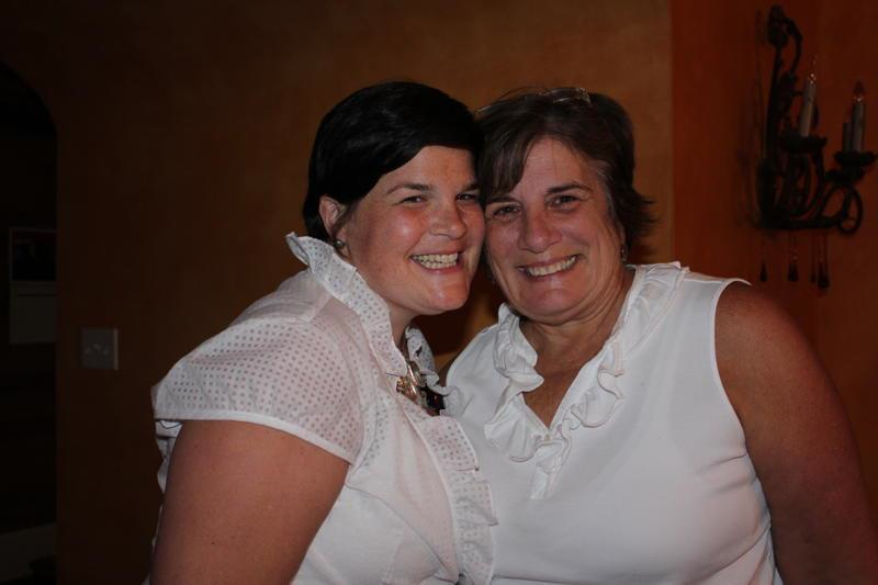Jennie Lewis and her mother