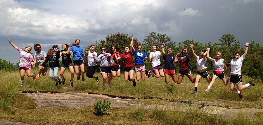 9th Graders Jump together