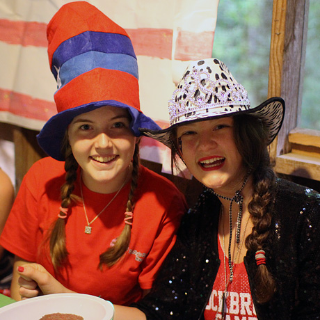American Campers dressed up