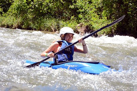 Gren river NC kayaker girl