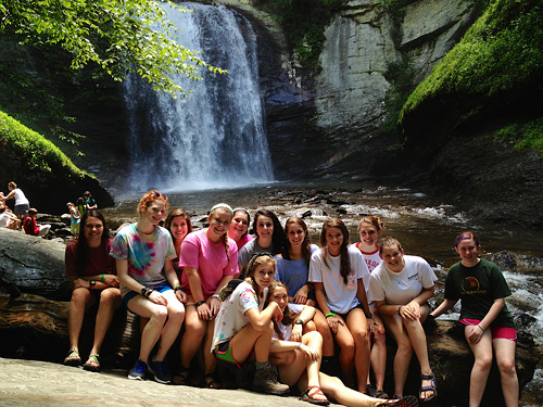 Hi-Up campers at Looking Glass Falls