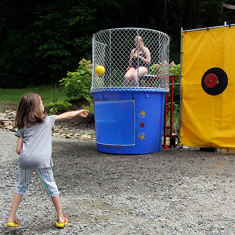 Girls Camp Dunking Booth