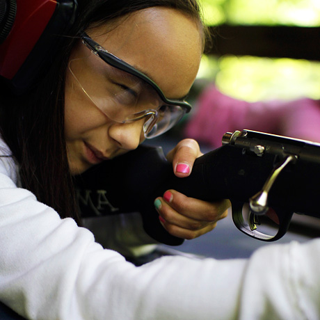 Girl Rifle Shooter