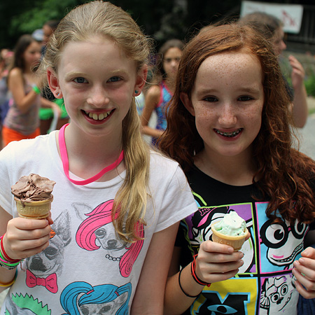 Ice Cream campers with cones