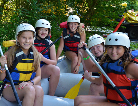 Camp girls ready for whitewater action