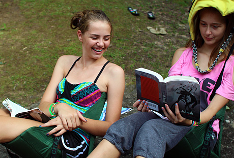 Free time for reading at summer camp