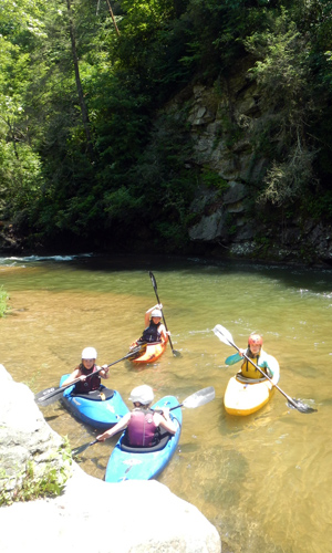 Kayak trip on the upper green river