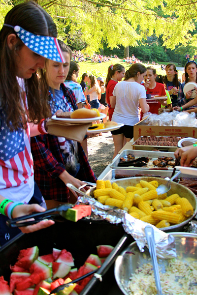 Cookout food at camp 4th picnic