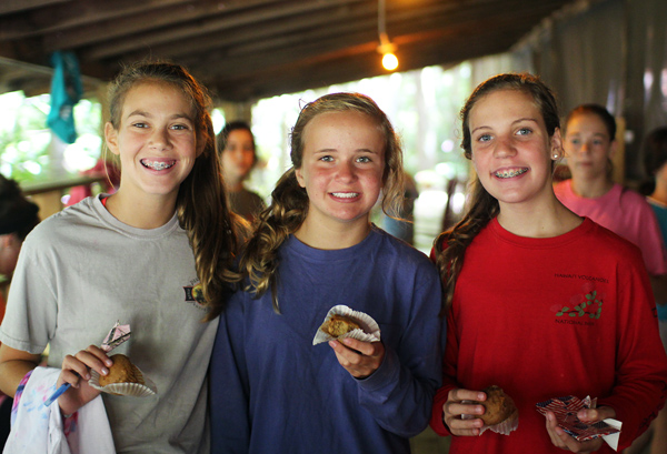 Muffin friends at camp