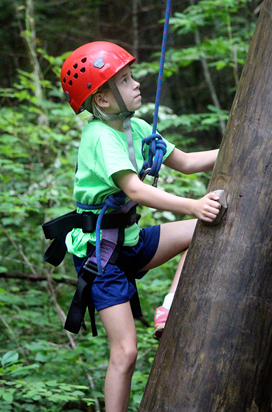 High Ropes Course Kids Climbing