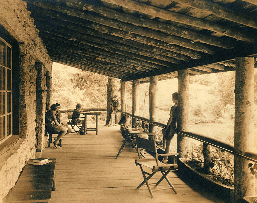1930s Camp Stone Lodge overlooking Rockbrook Lake