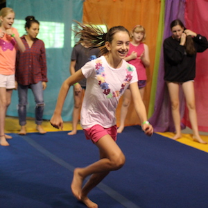 Camp gymnastics activity
