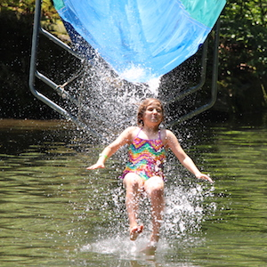 Camp Rockbrook water slide
