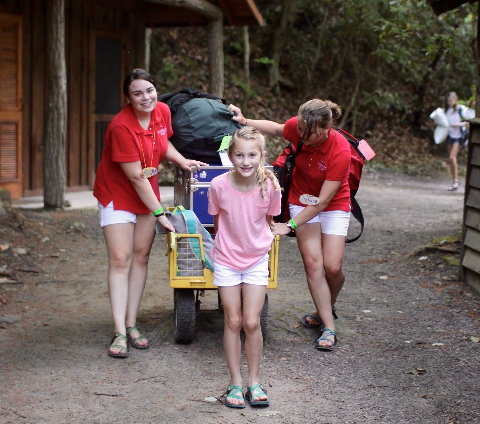 moving trunk into summer camp