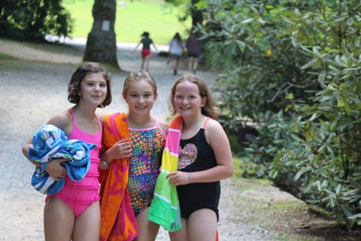 camp girls and towels