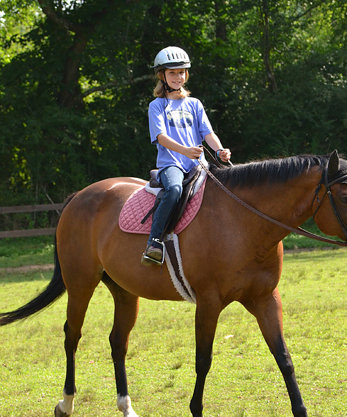 camp horseback rider girl