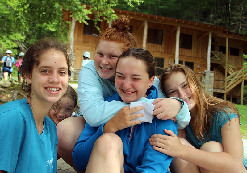 faces of teenage camp girls