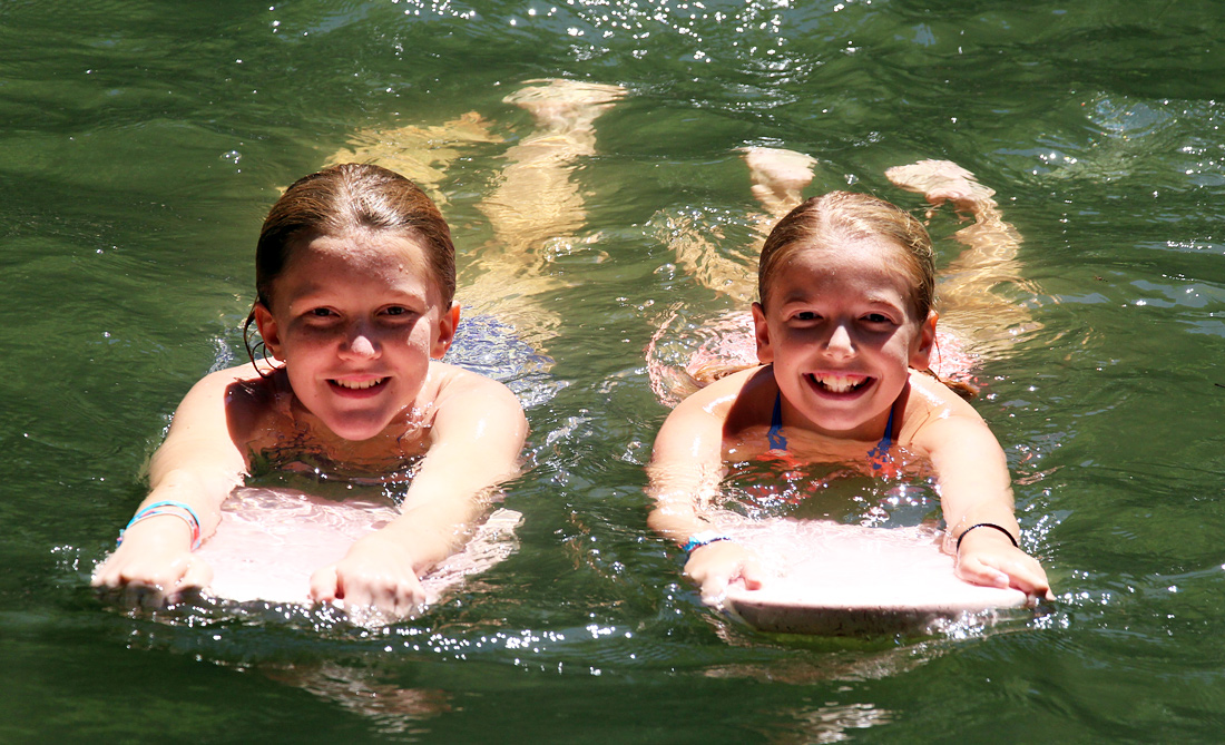 Camp Swimming girl pair