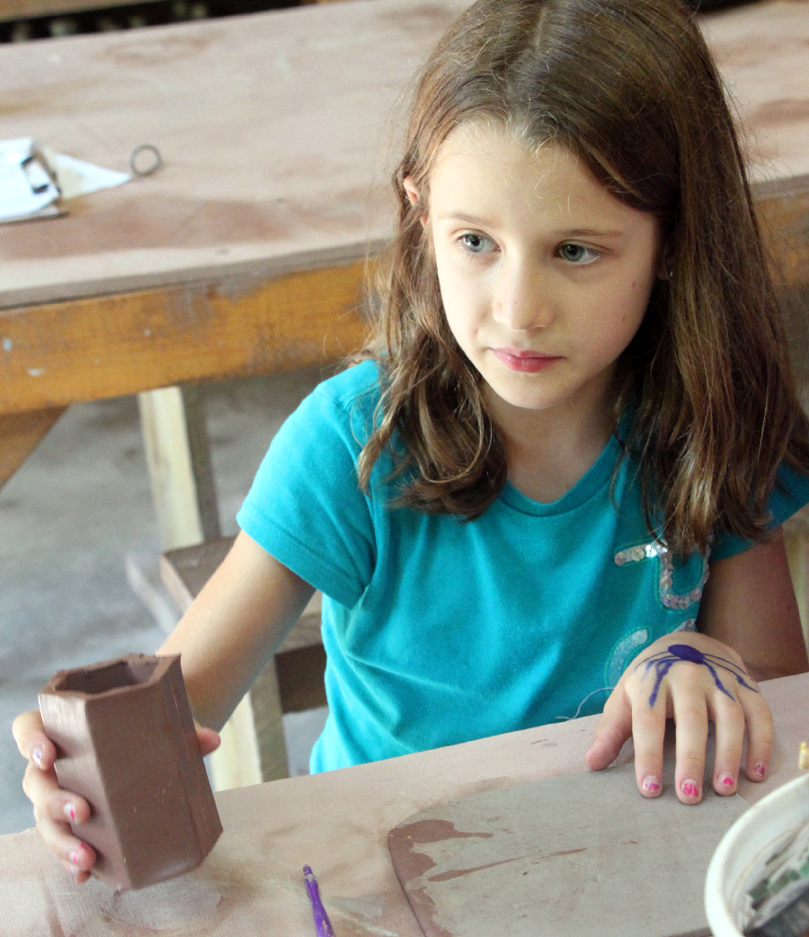pottery camper at summer camp