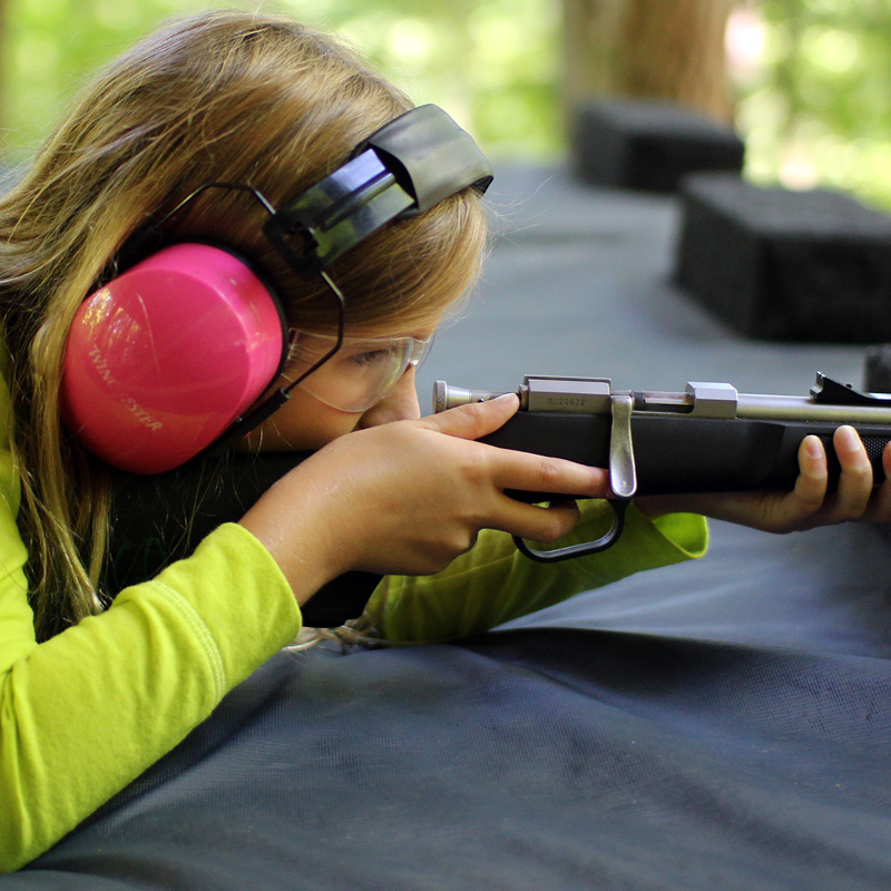 Girls Shooting Rifle