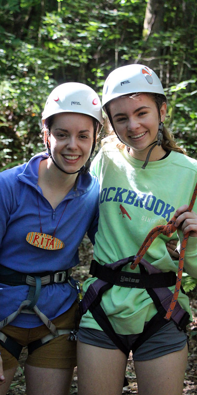 Climbing Instructor and Camper