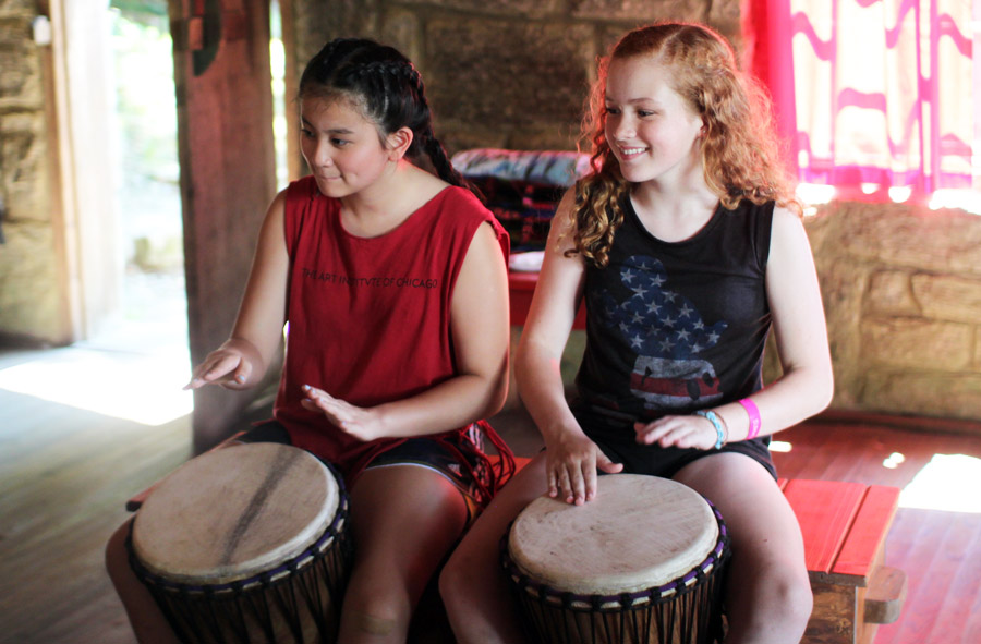 Girls Drumming Lesson